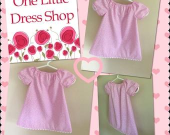 Peasant Dress - Size 0-3 Months