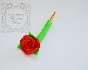 Rose Ergonomic Crochet Hook