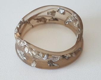 Handmade Bepoke Resin & Foil Bracelet - Signature Woven Style