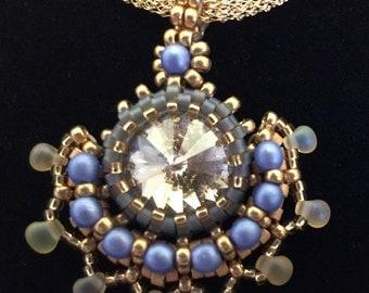 Beaded Crystal Pendant