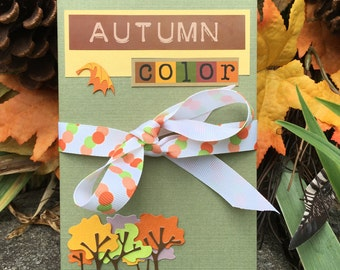 Autumn Color - Accordion Photo book - Photo Album - Fall Scrapbook - Brag book