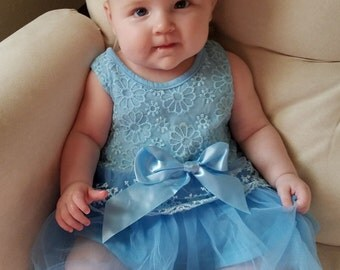 Baby Girl Dresses- Photography- Lace- Flower Girl- 6-9 month size