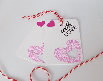 Heart Gift Tags Pack of 10 GT01