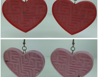 Heart Puzzle Earrings