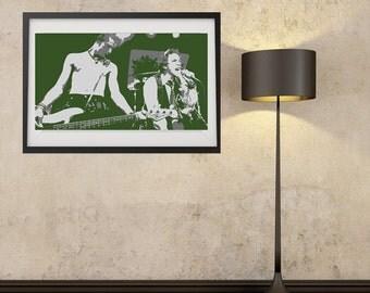 LARGE SIZE Sex Pistols Print / Sid Vicious Poster / Sex Pistols Poster / John Lydon Poster / Johnny Rotten Poster /Big Poster / Big Print