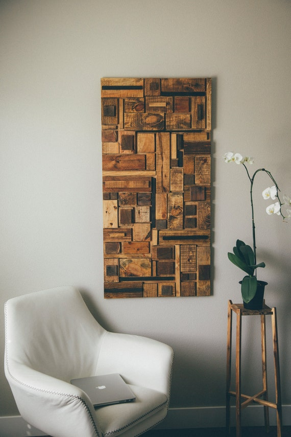 Personalized Wood Wall Decor : Custom reclaimed wood wall art decor
