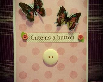 Cute as a button (blank)