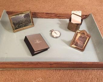 Homemade aqua tray with wood trim (vignette)