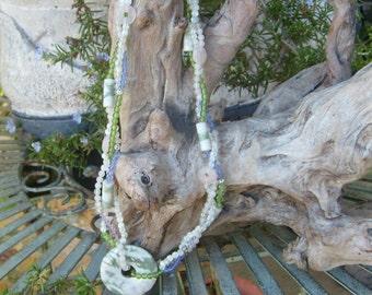jade rose quartz mo of pearl 19 in