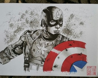 Captain America limited edition canvas print