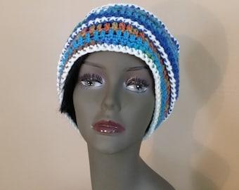 "Sale*** Crochet hat ""Ribbed popcorn hat"""