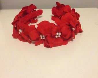 Red fiesta headband