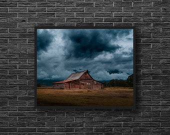 Wooden Barn Print - Old Barn Photography - Ruin Barn Photo - Abandoned House Photo - Old House Print - Wooden House - Abandoned Wall Decor