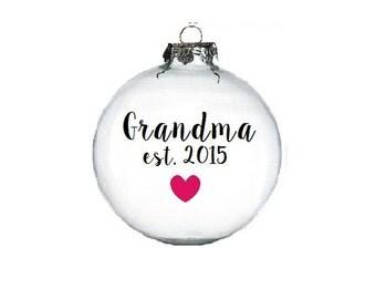Grandparent Ornament - Pregnancy annoucement ornament - glitter ornament - Pregnancy Ornament - Grandma Ornament - Aunt Ornament - Custom