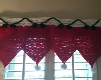 Crochet Christmas Santa Hat Valence and/or Apron Pattern Only...
