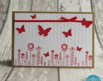 Grußkarte Schmetterlingswiese
