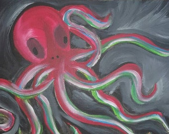 Octopus Painting Sea Creature Painting Acrylic Painting Canvas Painting Beautiful Awesome Art
