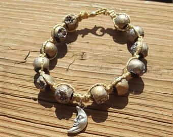 Moon Rocks Hemp Bracelet