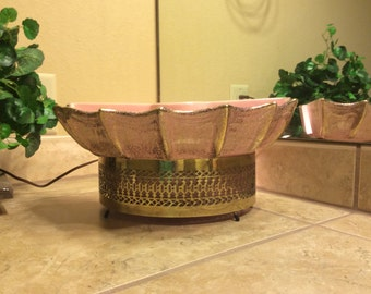 Vintage TV Lamp Planter - Pretty in Pink