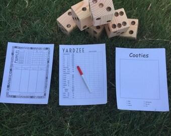 Yard Dice Game Set