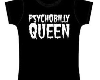 L - Official Psychobilly Queen Tshirt - Ladies