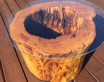 Reclaimed Tree Trunk Coffee Table
