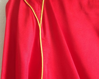 Gloria Vanderbilt Disco Silk 1970s Red / Yellow Top