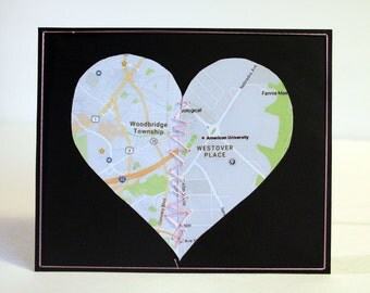 Long Distance Relationship Card Map (Personalized)
