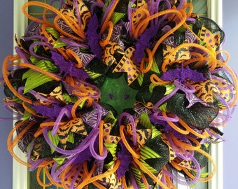 Halloween Bats Deco Mesh Wreath
