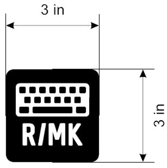Mechanical Keyboard Vinyl Sticker R Mk