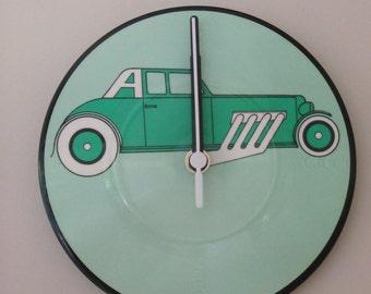 Car vinyl picture disc clock