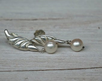 Ohrringe Perlenohrringe Silber mit Akoya-Perlen **** pearl earrings silver with akoya-pearls
