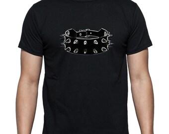 Kinky collar t-shirt, Fetish t shirt, BDSM tshirt. Mens t-shirt, gift for men. Kinky tee, fetish tee, apparel clothing by FET.tees.