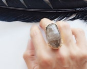 Queen Witch - smoky quartz statement ring