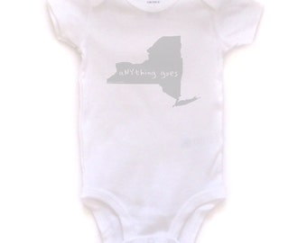 new york baby clothing, new york baby gift, new york love, new york shower gift, baby neutral, free ship