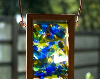 Sun Catcher Glass Copper Cedar Kaleidoscope Suncatcher