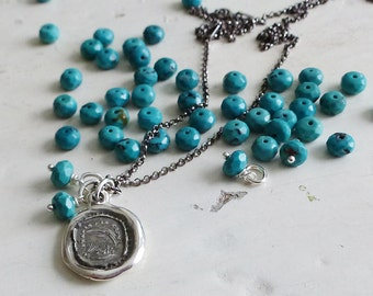 Add a Charm - Faceted Turquoise Rondel 6mm Gemstone Accent
