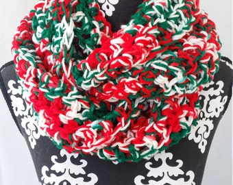 Ugly Christmas Scarf, Infinity Scarf, Cute, Chunky Scarf, Fall Fashion, Large Scarf, Scarf, Cozy Scarf, Statement Cowl