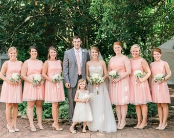 Pink Cotton Bridesmaid Dresses