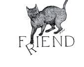 F(r)iend, original cat illustration by Johanna Öst