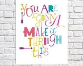 Motivational Wall Decor Get Well Care Package Idea Recovery Gift Encouragement Art Colorful Feel Better Print Inspirational Quote Poster