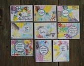 Wisdom set no. 19 - daily wisdom cards - set of 9 - ATC sized
