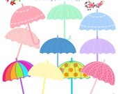 Umbrellas Clip Art, Baby Shower Umbrellas, Baby Shower Clip Art, Digital Scrapbooking, Umbrellas Graphics, Digital Downloads, Cute Cliparts