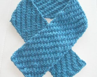 Sky Blue Scarf is Warm Thick and Reversible