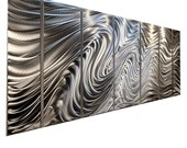 HUGE SALE! Large Multi Panel Wall Art in Silver, Contemporary Metal Wall Art,  Modern Wall Sculpture Sculpture - Hypnotic Sands by Jon allen