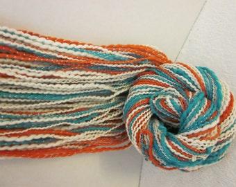 Handspun Merino Silk ART Yarn (Prayers) 104 yds 95 meters