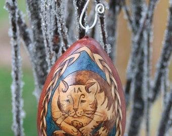 Cat Hugging Mouse Tree Ornament egg gourd