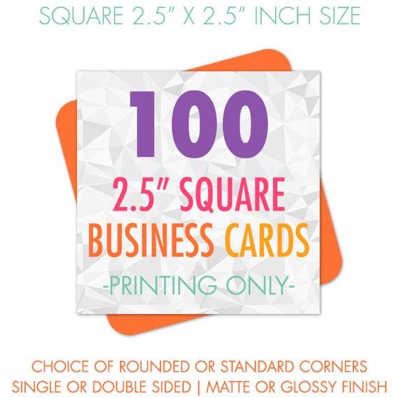 100 Business Cards Square Business Cards Business Card