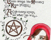 Wicca Grimoire The Wiccan Rede (Page 6 + bonus page) Book of Shadows **DIGITAL DOWNLOADS**Enchanting Grimoire Collection/Carole Anzolletti