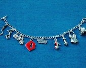 Creature of the Night- Rocky Horror Picture Show Inspired Charm Bracelet